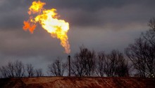 gas flare fracking site Bradford County Pennsylvania